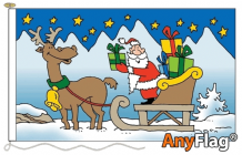 SANTA SLEIGH  ANYFLAG RANGE - VARIOUS SIZES